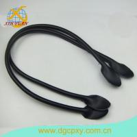 China Leather Bag Handles With Sewing Holes For Bag 26 Inch A Pair Dark Purse Strap Purse Handle wholesale