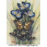 """China Bergsma Butterfly Magnet - """"New Day"""" wholesale"""