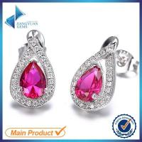 Buy cheap Chinese 925 silver earring white gold cubic zirconia stud ea from wholesalers