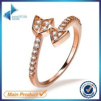 Buy cheap rose gold plating best quality cubic zirconia rings from wholesalers