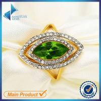 Buy cheap green cz stone brass ring from china from wholesalers
