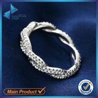 Buy cheap White gold plating silver cz stone ring from china from wholesalers