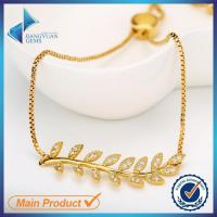 Buy cheap Chinese 14k gold plating brass bracelet jewelry from wholesalers