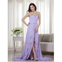 China Designer Lavender Prom Dress With Detachable High Low Skirt wholesale