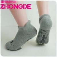 China New Adult Hospital Snap On Non Slip Socks With Rubber Soles For Men / Ladies Wholesale on sale