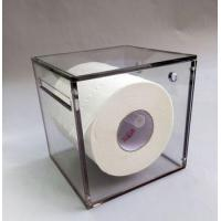 China Factory direct sale custom acrylic color tissue box/tissue roll holder/toilet tissue holder wholesale