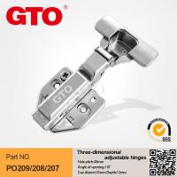 China PO218 Three-dimensional adjustable door hinges for kitchen cabinets on sale
