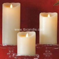 China moving wick real wax luminara pillar candle for home decor on sale