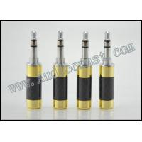 China 2p Gold plated cover and Rhodium Body 3.5mm Mini Jack Stereo Plug Connector Carbon Fiber on sale