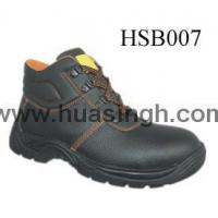 China Hotselling Product embossed leather anti-hit safety work boots wholesale