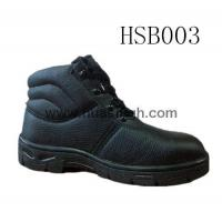 China Hotselling Product barton printed leather safety shoes in black wholesale