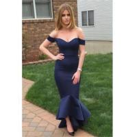 China 2016 Navy Sheath Evening Dresses Off The Shoulder Sexy Open back Prom GownItem Code: CE0070 wholesale