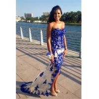 China Sweetheart Blue 2016 Prom Dresses Sheer Tulle Lace Evening GownsItem Code: CE089 wholesale