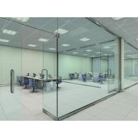 China Clear Glass Partition Wall With Pivoting Door wholesale