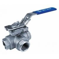 China 3-Way Ball Valves,Reduced Bore,Threaded End,1000WOG, T Type wholesale
