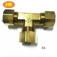 China brass compression equal tee wholesale