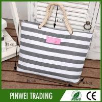 Buy cheap canvas rope handle beach tote bag from wholesalers