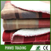 Buy cheap polar fleece knit polyester travel blanket, wholesale wool adult tv plaid blanket manufacture from wholesalers
