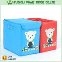 Buy cheap Cute cartoon foldable Non Woven fabric toy kids storage box from wholesalers