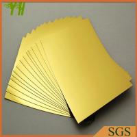 Buy cheap Golden Laminated Paper from wholesalers