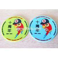 China Colorful debossed logo custom soft rubber drink cup coaster holder wholesale