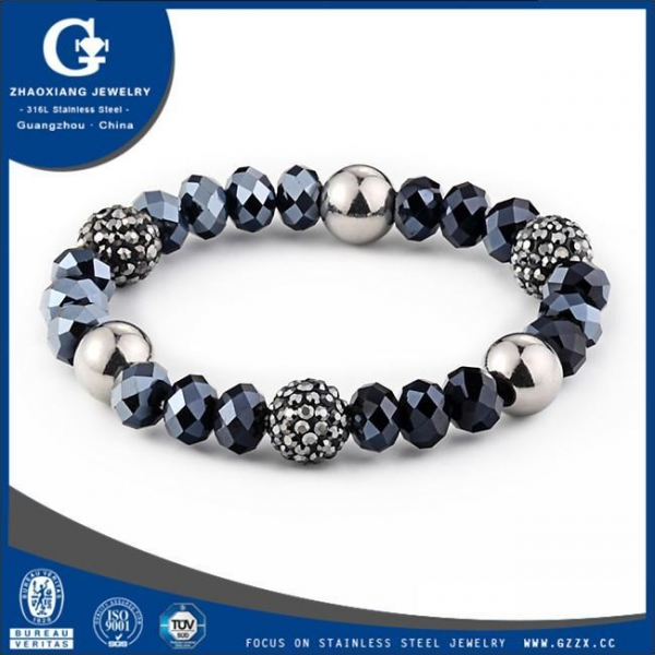 Quality Stainless steel murano bead bracelets wholesale B6009 for sale
