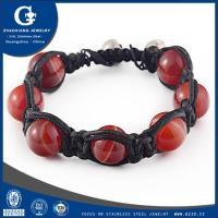 Buy cheap stainless steel murano glass bracelet from wholesalers