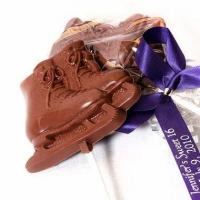 China Ice Skating Favors - Chocolate Skate Lollipops wholesale