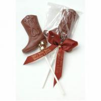 China Chocolate Cowboy Boot Western Favors wholesale