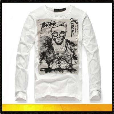 Quality Sweaters lightweight round neck long sleeve cotton t shirt for sale
