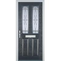Buy cheap 2 Panel 2 Arch Crystal Harmony Composite Front Door in Grey from wholesalers