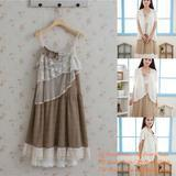 China Mori Girl Female Cute Summer Tiered Sexy Sling Lace Cotton Knee-Length Dress wholesale