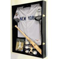 China Extra Deep Jacket, Uniform, Jersey Shadow Box Display Case Cabinet w/ UV Protection4 WOOD COLORS! on sale