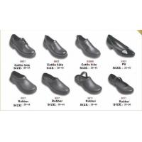 China 9801 non-slip shoes Chef shoes kitchen work shoes Calf Rubber PU work shoes safety wholesale