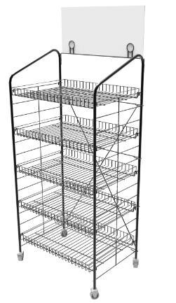 Quality metal wire basket rack DSN12122 for sale