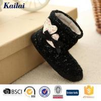 China Baby Shoes Cashmere Heart-shaped Bowknot Baby Boot wholesale