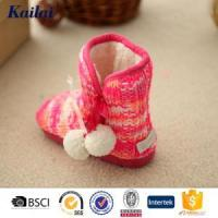 China Baby Shoes Cashmere Pom Pom Baby Shoe wholesale