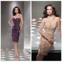 China sexy formal lace strapless knee length women short dress wholesale
