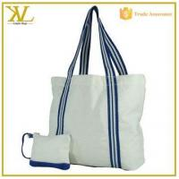 China Promotion Canvas Tote Cheap Beach Bag With Small Pouch wholesale