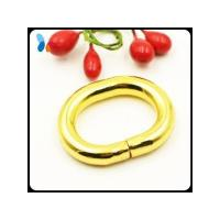 5mm thickness shining golden metal ring loop buckle