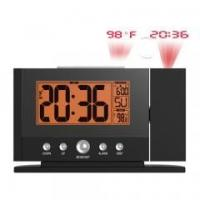 China Atomic LCD Alarm Clock Projecting Wall Ceiling with Orange Backlight Display Indoor Temperature on sale
