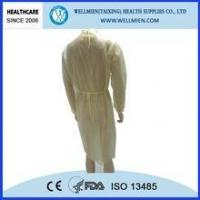 China Yellow Disposable Isolation Gown wholesale
