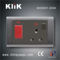 China B1 Series 45A 250V 1 gang DP switch & neon with 13A socket wholesale