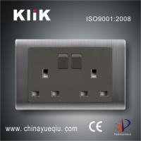 China B1 Series 13A 250V 2 gang double pole switched socket wholesale
