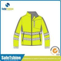 Customized unisex breathable fluorescent safety jacket softshell fabric