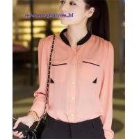China Office lady shirts fashion design chiffon shirts for women wholesale