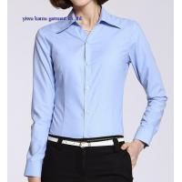 China Long sleeve woman formal dress shirts cotton office lady dress blouse wholesale