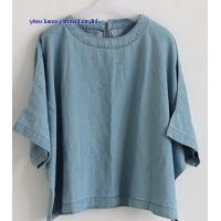 China Fashion lady denim tops woman jean blouse wholesale