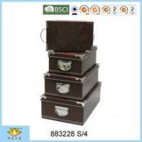 Buy cheap Foldable Box PVC Paper Handmade Storage Box With Iron from wholesalers