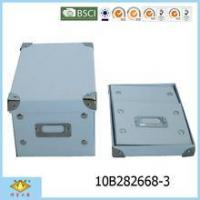 China White Foldable Cardboard Box with Metal Card Holder Without Printing wholesale